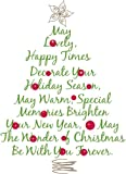 RoomMates RMK1412GM Christmas Tree Quote Peel & Stick Giant Wall Decal