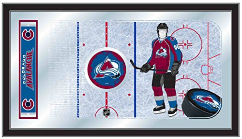 Holland Bar Stool Company NHL Colorado Avalanche 15x26-Inch Hockey Rink Mirror