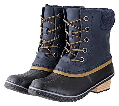 Sorel Women's Slimpack Lace Ii Snow Boot, Peatmoss, Bog, 9 UK Collegiate Navy/Glare