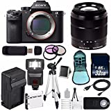 Sony Alpha a7R II Mirrorless Digital Camera (International Model no Warranty) + Sony E-Mount SEL 1855 18-55mm Zoom Lens (Black) + 49mm 3 Piece Filter Kit 6AVE Bundle 12
