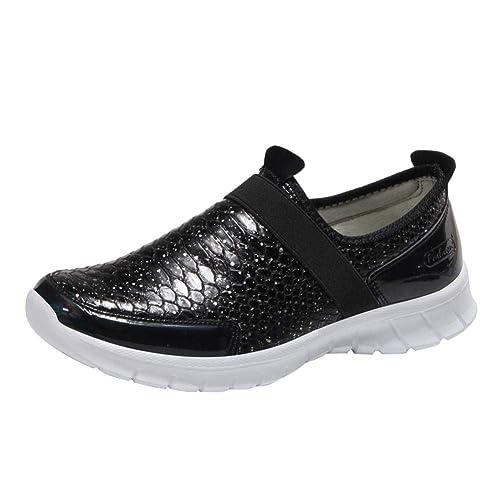 Zapatillas de Deportivo Plano para Mujer Otoño Invierno 2018 Moda PAOLIAN Calzado de Dama Piel de
