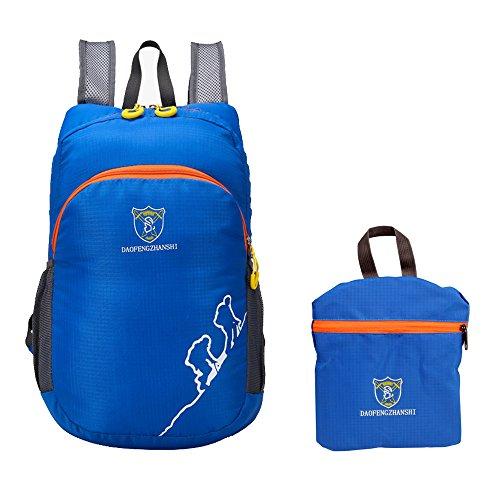 fb449277c78 Galleon - TOPTOTN Bright Lightweight Waterproof And Durable Backpack  Outdoors Rucksacks Waterproof Hiking Backpack For Travelling LARGE 19L  (Blue)