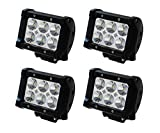 JVJAM 4PCS 4INCH 4″ 18W CREE LED WORK LIGHT BAR SPOT FLOOD BEAM OFFROAD BOAT 4WD ATV SUV Offroad Tractor Jeep Truck TRAILER MINING 12V/30 A44 For Sale