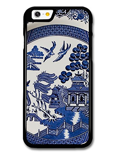 Blue Porcelain Style Hand Painted Asian Inspired Design with Doves case for iPhone 6 6S