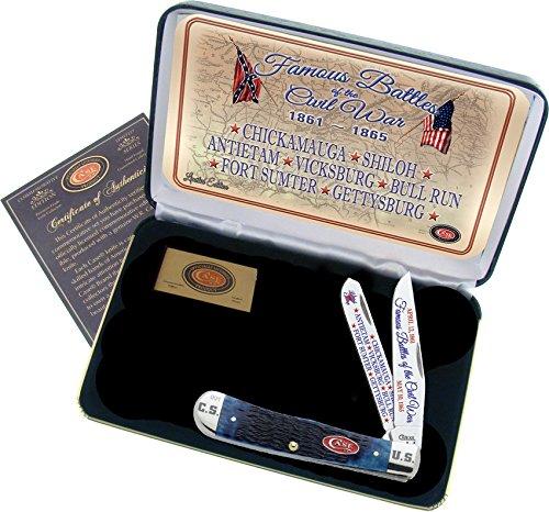 Commemorative Trapper - Case Cutlery CAFBBPB Famous Battles of Civil War Commemorative Trapper Hunting Knives