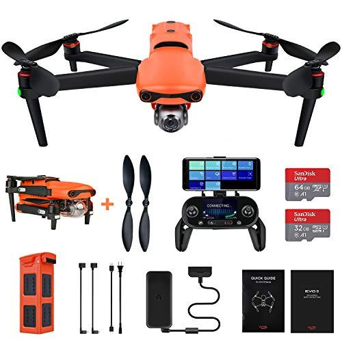 Autel Robotics EVO 2 Drone 8K Camera Folding Quadcopter with Extra 64GB SD Card, No Geo-Fencing (2021 Newest)