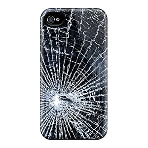EOVE Iphone 4/4s Well-designed Hard Case Cover Broken Glass Protector