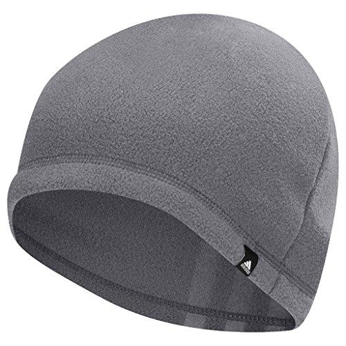 adidas 2017 Mens 3 Stripe Fleece Golf Beanie Winter Thermal Hat Mid Grey