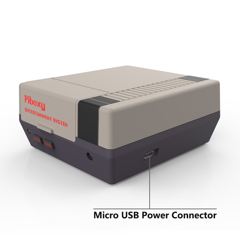 NESPI Case, Piboxy Nes Case With Functional POWER and RESET Button, Safe Shutdown, IR Remote Controller, Raspberry Pi Fan for Raspberry Pi 3 Model B, Pi 2 Model B (Piboxy with Fan) by iUniker (Image #4)
