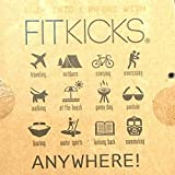 FitKicks Men's Active Lifestyle Footwear Limited.001 Edition (Large, High Frequency - B/W Static)