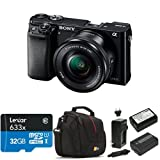 Sony Alpha a6000 Mirrorless Digital Camera with 16-50mm Power Zoom Lens Deluxe Bundle