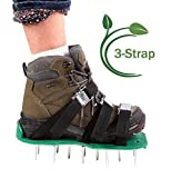 Ohuhu Lawn Aerator Spike Shoes, Aerating Lawn Soil Sandals with Metal Buckles and 3 Adjustable Straps, One Size Fits ALL for Aerating Your Lawn or Yard