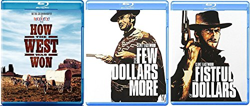 Westerns How the West was Won Blu Ray + The Ugly A few more dollars Western Action Pack Movie Set Fistful of Dollars Clint Eastwood Movie Bundle