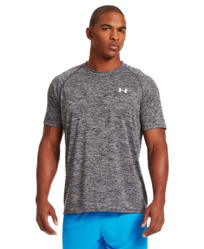Under Armour Men's UA Tech™ Patterned Short Sleeve T-Shirt Small Black