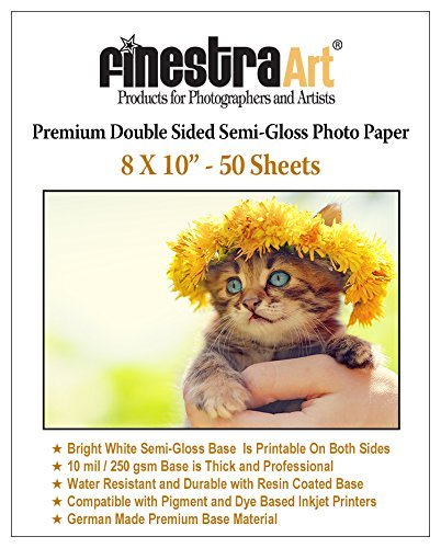 8x10 50 Sheets Premium Double Sided Semi Gloss Photo Paper 250GSM