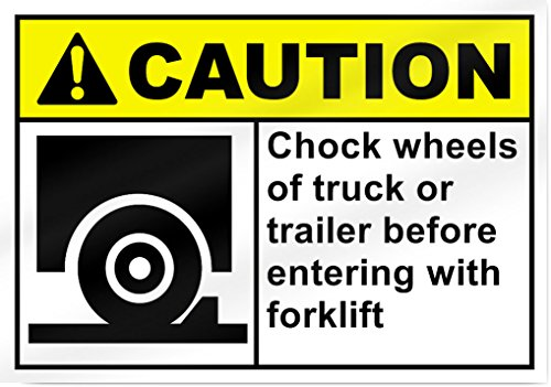 Calzo ruedas de camión o remolque antes de descarga Forklift–35.6cm de ancho x 10' de alto