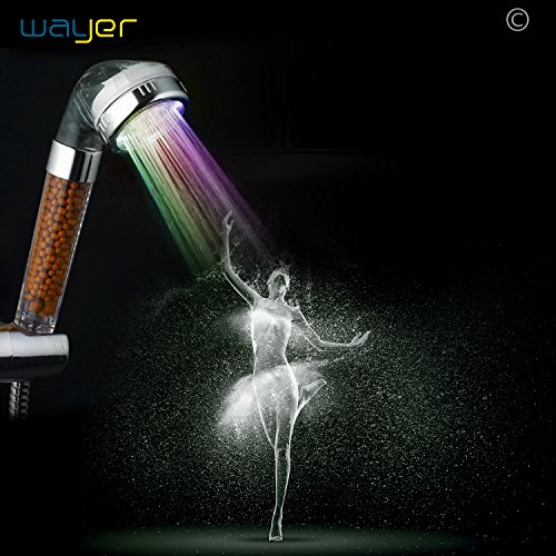 8 Inch 7 Colors Changing LED Shower Head - 8
