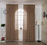 Best IYUEGO Eclipse Curtains Eclipse Curtains Blinds - IYUEGO Solid Coffee Flowers Country Sheer Curtain Double Review