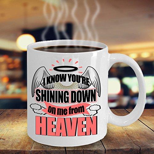 My Husband In Heaven Mug, Widow Mug, Widow Coffee Mug, Shining Down On Me From Heaven Mug, Remembrance Mug, Sympathy Mug, Memorial Mug, 11oz, 15oz, gift