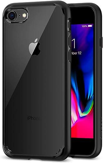 【Spigen】 iPhone8 ケース / iPhone7 ケース 対応 背面クリア 米軍MIL規格取得 耐衝撃 すり傷防止 ワイヤレス充電対応 ウルトラ・ハイブリッド 2 042CS20926 (ブラック)