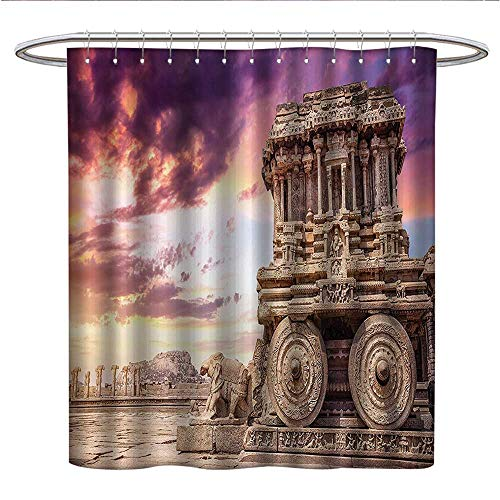 Anshesix Home Decor CollectionPattern Shower curtainOld Historic Ruins