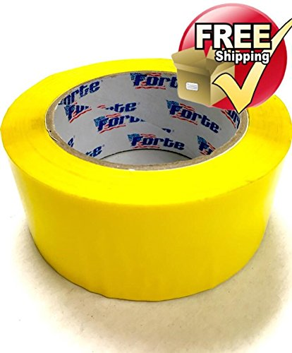 "YELLOW Color Packing Tape – 2"" x 110 Yds. Per Roll 2.0Mil, (Pack of 12 Rolls) Carton Sealing Tape – Boxing Tape - Acrylic Tape -"