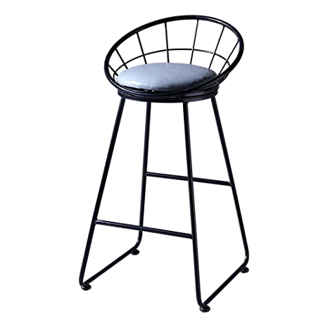 Fantastic Amazon Com European Bar Stool Metal Barstools Seat Padded Caraccident5 Cool Chair Designs And Ideas Caraccident5Info