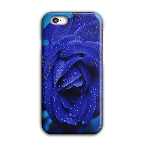 Blue Rose Beautiful Case for iPhone, 6 / 6S Earth Non-Slip Cover - Slim Fit, Comfortable Grip, Protective Case by Wellcoda ()