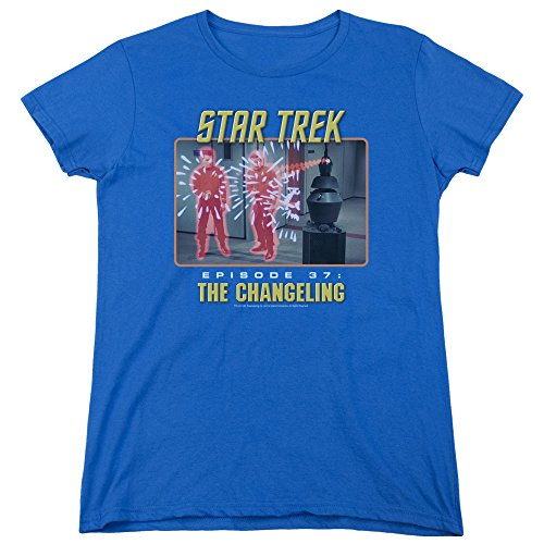 Star Trek Original TV Series The Changeling Women's T-Shirt Tee Blue (Star Trek The Original Series The Changeling)