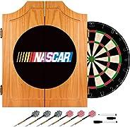 Trademark Global NASCAR Beveled Wood Dart Cabinet Set, Regular