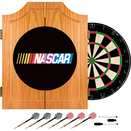 NASCAR Wood Dart Cabinet Set by Trademark Gameroom