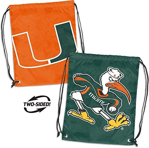 Logo Brands NCAA Miami Doubleheader Backsack, Multi, One Size