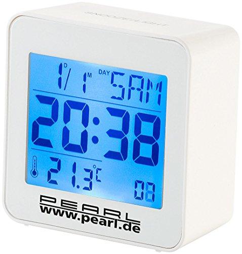 PEARL Digitaler Funkwecker mit Temperaturanzeige und Kalender