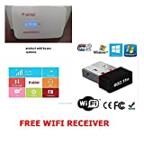 New Airtel 4G wifi Hotspot All gsm sim Supported Latest Unlocked + FREE WIFI RECEIVER OFFER 2g/3g/4g (Usb Wired+Wifi)(AIRCEL/VODAFONE/AIRTEL/JIO/IDEA\BSNL 4G,3G,2G, ANY) FREE WIFI RECEIVER OFFER