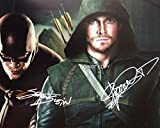 Stephen Amell & Grant Gustin of TV show ARROW reprint signed photo #1 RP