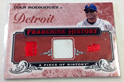 Cheap price 2008 Upper Deck Franchise History Ivan Rodriguez Jersey MLB Detroit Tigers