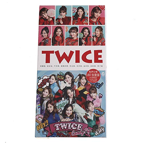 Youyouchard Kpop Twice Album YES or YES Photo Postcard Lomo Card Cards Stickers Set Photo Card Poster HD Photocard, Gift for Fans(H35: 180PCS) (Photo Postcard Art)