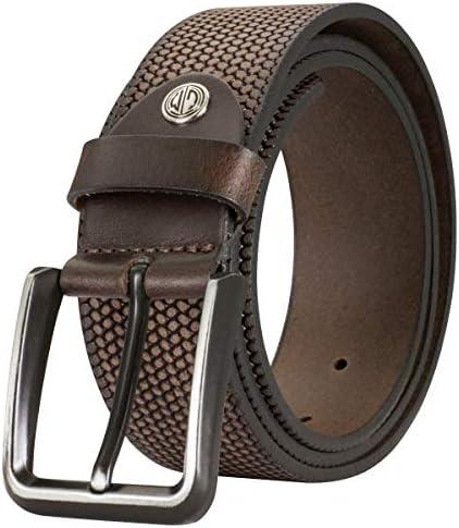 Lindenmann Mens Leather Belt/Mens Belt, full grain leather, cognac, Farbe/Color:marron, Size US/EU:Waist Size 45.5 XXL EU 115 cm