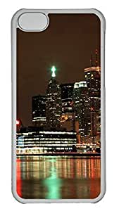 iPhone 5C Case Ablaze With Lights And Beauty Of The City PC iPhone 5C Case Cover Transparent