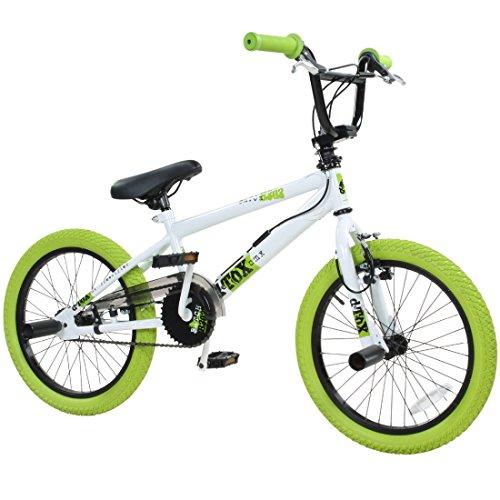 18' BMX deTOX Freestyle Kinder BMX Anfänger ab 120 cm, ab 6 Jahren, Farbe:weiss/grün