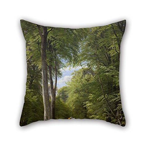 Beautifulseason Pillow Covers 20 X 20 Inches / 50 By 50 Cm(2 Sides) Nice Choice For Car,son,adults,home Theater,bedding,relatives Oil Painting P.C. Skovgaard - A Beech Wood In May Near Iselingen Man