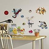 New POKEMON XY Wall Stickers Pikachu Decor Pokeball Froakie Chespin Finnekin Decals