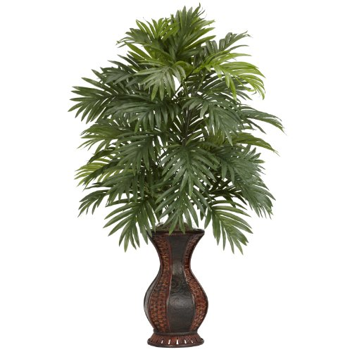 Nearly Natural 6661 Areca Palm with Urn Decorative Silk Plant, Green by Nearly Natural