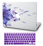 """KEC Laptop Case for MacBook Air 13"""" w/Keyboard Cover Plastic Hard Shell Case"""