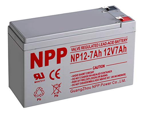 (NPP NP12-7Ah UPS Rechargeable Sealed Lead Acid 12V 7 Ah Battery F2 Terminals)