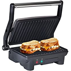 Elite Cuisine EPN-2976 Maxi-Matic Panini 180 Degree Indoor Contact Grill, Black