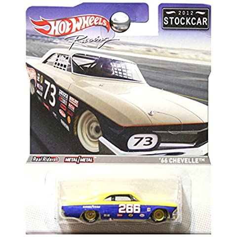 Hot Wheels 2012 Stockcar Stock Car 1966 66 Chevrolet Chevy Chevelle Goodyear Tires Blue 266 (Chevelle 66)