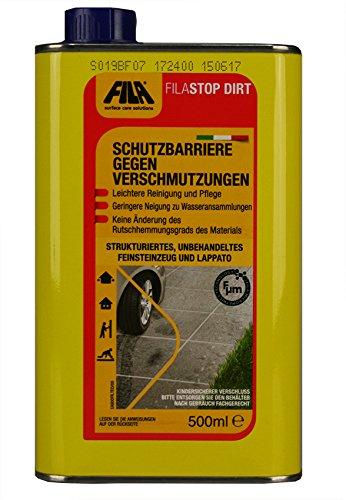 FILA FILASTOP DIRT Schutzbarriere gegen Verschmutzungen für Bodenfliesen Feinsteinzeug und Lappato 500 ml. für bis zu 35 qm