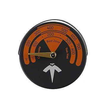 YUEMI Termómetro Universal para Estufa, termómetro de Estufa para Ventilador de Estufa con Calor: Amazon.es: Bricolaje y herramientas