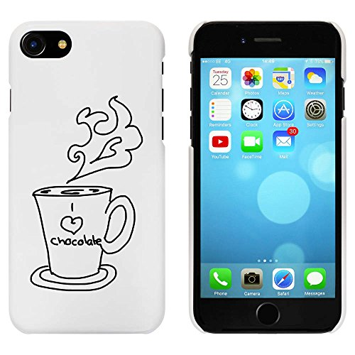 Blanc 'Chocolat Chaud' étui / housse pour iPhone 7 (MC00079664)